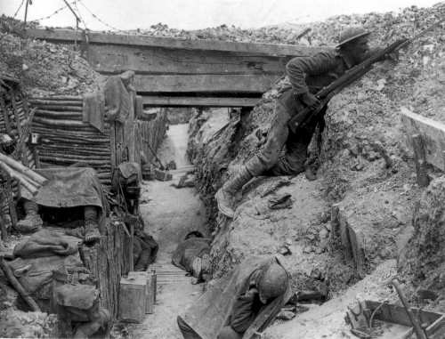 "This picture is in the public domain. It shows a soldier fighting during the Battle of the Somme in 1916, a devastating battle in which thousands died. During WW1 many men suffered from debilitating emotional symptoms which were often labelled ""shell shock"". After the Vietnam War, many veterans were diagnosed with a disorder that had never had a name before: ""Post-Traumatic Stress Disorder"". Trying to help people deal with such traumatic experiences after they occur is an important role for psychologists. If it were possible to predict people's reactions and take action before they experienced the worst symptoms, this might prevent great emotional suffering. (On the other hand, if men are sent to wars like the one above, it is possible that no predictions could alleviate the pain of the experience.)"